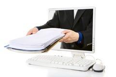 在线文件 免版税库存图片