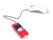 在线汽车互联网 免版税库存照片