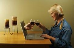 在线约会 免版税库存图片