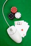 在线赌博 免版税库存图片