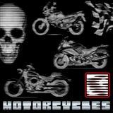 在线路的摩托车 免版税库存照片