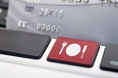 在线食物 免版税库存照片