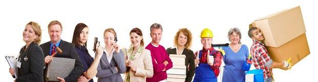 在组的不同的职业 免版税库存照片