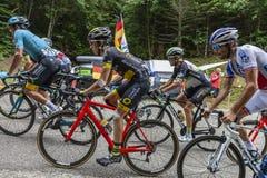 在细气管球-环法自行车赛里面2017年 免版税库存照片