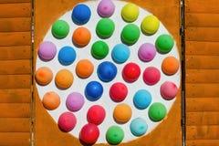 在细胞的多彩多姿的气球 库存照片