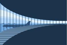在终端里面的机场背景 免版税图库摄影