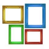 在经典样式的查出的框架在四个颜色 库存照片