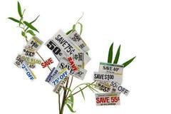 在结构树的副食品赠券 免版税库存图片