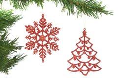 在结构树的圣诞节装饰。 库存图片