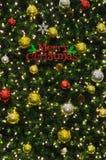 在结构树的圣诞节装饰 库存照片