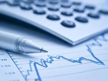 在统计数据的重点 免版税库存照片
