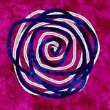 在绯红色背景的对比的抽象样式 向量例证