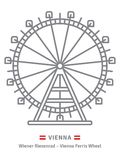 在维也纳象的Prater弗累斯大转轮 皇族释放例证