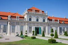 在维也纳降低贝尔维德雷宫 库存照片