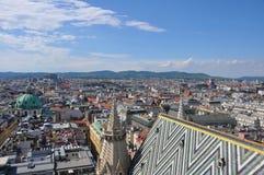 在维也纳,奥地利的视图 库存图片