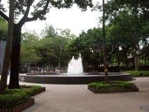 在维多利亚公园,香港的喷泉 免版税库存图片