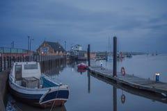 在维尔斯港口的冷淡的开始 其次维尔斯海 库存照片