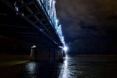 在维斯瓦河的桥梁 库存照片