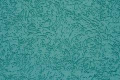 在绿松石墙壁背景的抽象样式 混凝土墙有肋骨青绿色表面  深蓝质地安心背景 Mo 库存图片