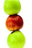 在绿色之中的红色苹果 库存图片