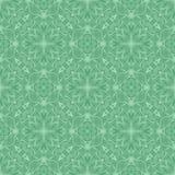 在绿色口气的密集的水色花纹花样背景 库存例证