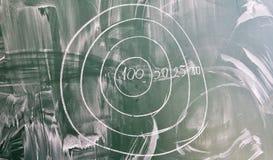 在绿色学校黑板的目标图画, 库存图片