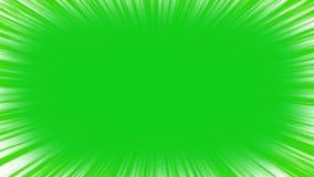 在绿色屏幕上的速度线 4k色度关键动画 向量例证