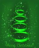 在绿色背景的圣诞树 库存例证