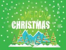 在绿色背景的圣诞节例证 皇族释放例证