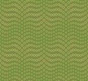 在绿色背景的抽象无缝的样式 有波浪的形状 包括围绕几何形式 向量例证