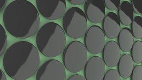 在绿色背景的空白的黑徽章 免版税库存照片