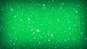 在绿色背景的落的雪花 圣诞节例证 向量例证