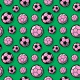 在绿色背景的足球 库存例证