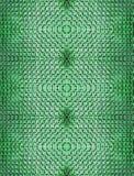 在绿色被连接的对称地类似于的有趣的形状放置的砖抽象无缝的背景织地不很细 库存照片