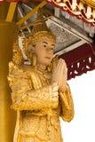 在缅甸寺庙的天使scupture 库存照片