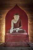 在缅甸无格式雕象寺庙里面的bagan菩萨 库存图片