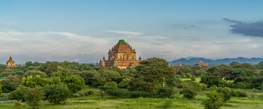 在缅甸的古庙 免版税库存照片