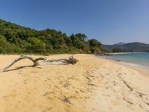 在缅甸的美丽的海滩 免版税库存照片