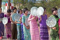 在缅甸的Novitiation仪式 免版税图库摄影