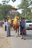 在缅甸的Novitiation仪式 免版税库存照片