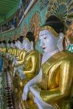 在缅甸的Umin Thounzeh寺庙 免版税库存照片