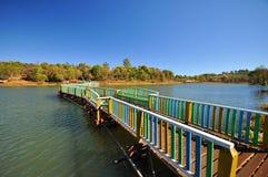 在缅甸,景栋的一座桥梁 免版税库存图片