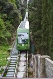 在缆索铁路的一列火车在蒙特塞拉特 免版税库存照片