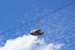 在缆绳的鞋子 库存图片