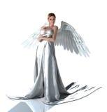 在缎的白色天使 图库摄影