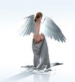 在缎的白色天使 皇族释放例证