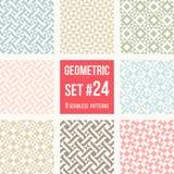 在缝制的样式的八个几何样式 图库摄影