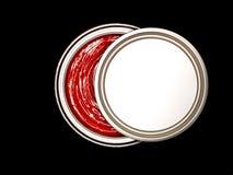 在罐头油漆红色之上 免版税库存照片