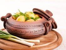 在罐的开胃土豆 库存照片