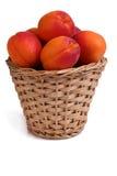 在罐的桃子 免版税库存图片